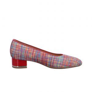Дамски елегантни обувки на ток ara 12-11838-40 - шарени страничен поглед