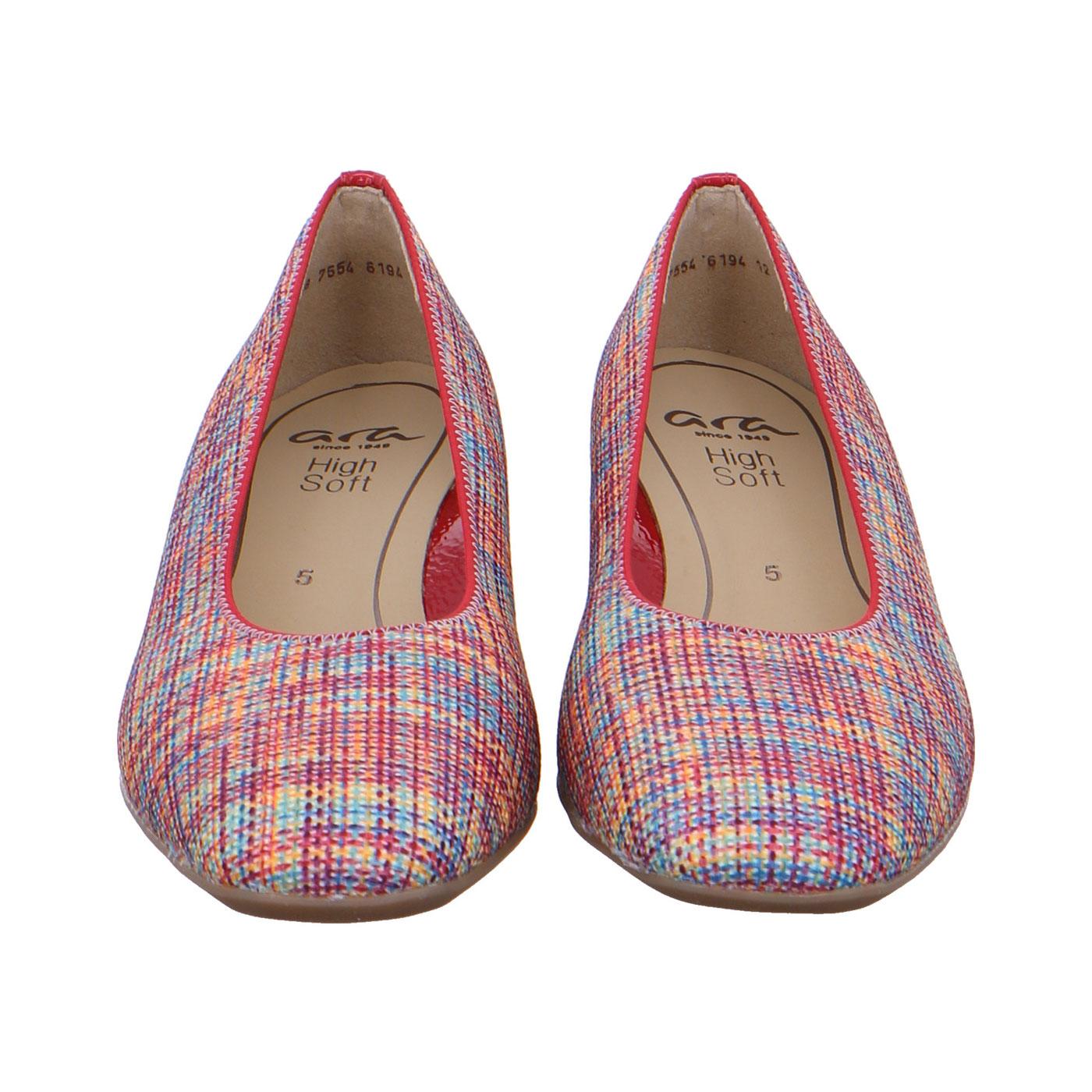 чифт дамски елегантни обувки на ток ara 12-11838-40 - шарени