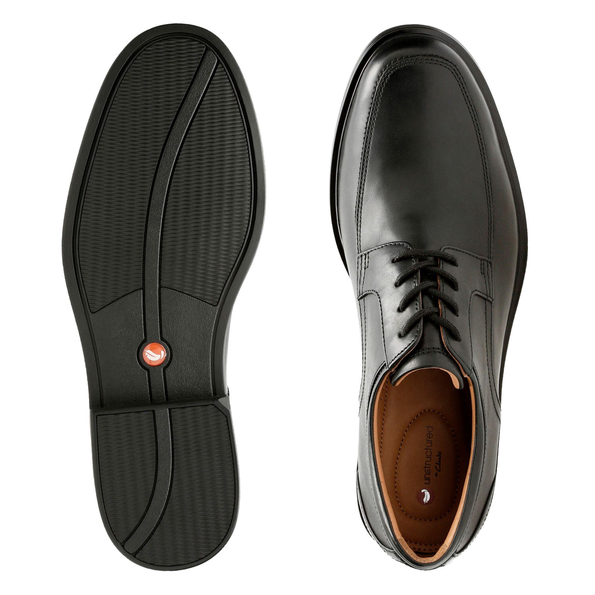 Мъжки елегантни обувки Clarks Un Aldric Park Black Leather - снимка 7