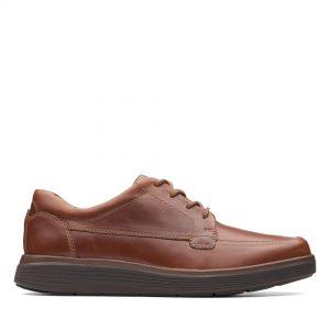 Мъжки обувки с връзки Clarks Un Abode Ease Dark Tan - снимка 2