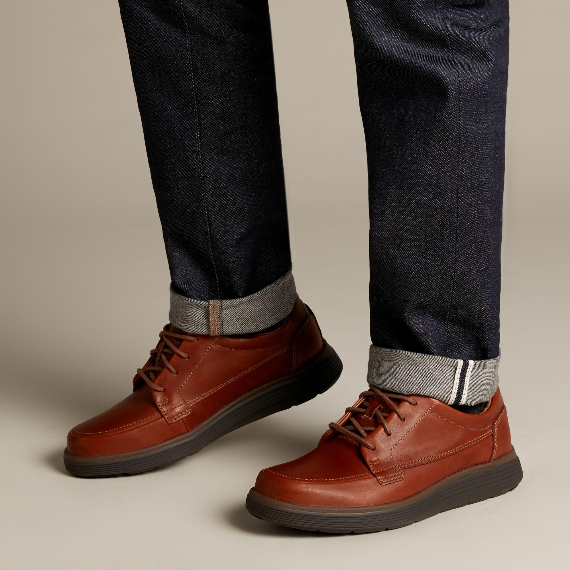 Мъжки обувки с връзки Clarks Un Abode Ease Dark Tan - снимка 9