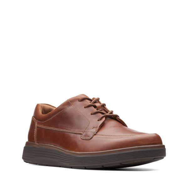 Мъжки обувки с връзки Clarks Un Abode Ease Dark Tan - снимка 1