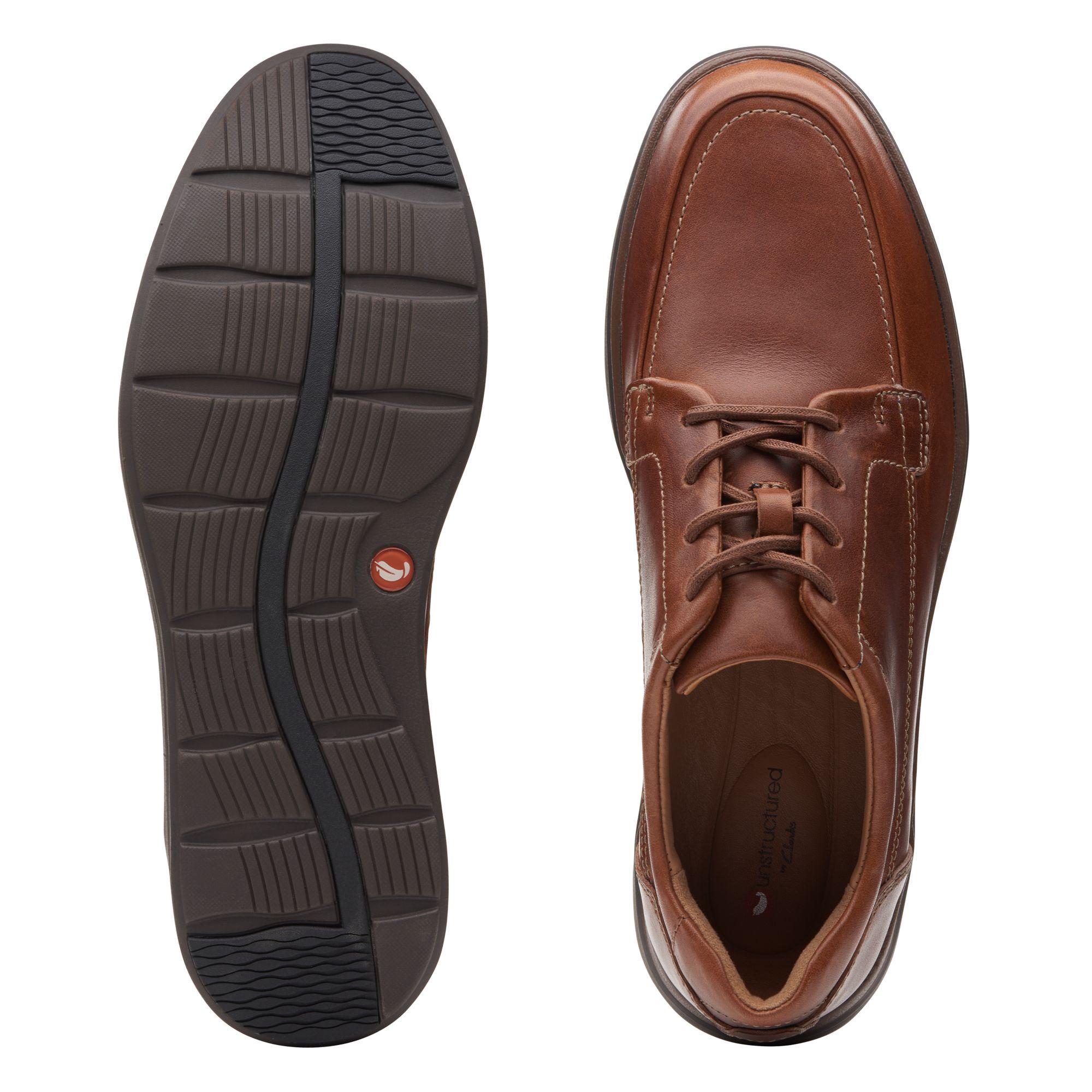 Мъжки обувки с връзки Clarks Un Abode Ease Dark Tan - снимка 7