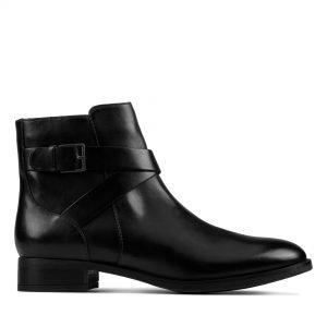 Дамски боти Clarks Hamble Buckle Black Leather - снимка 2