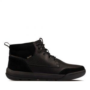 Мъжки обувки Clarks Ashcombe HiGTX Black WLined Lea - снимка 2
