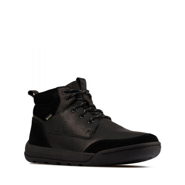 Мъжки обувки Clarks Ashcombe HiGTX Black WLined Lea - снимка 1