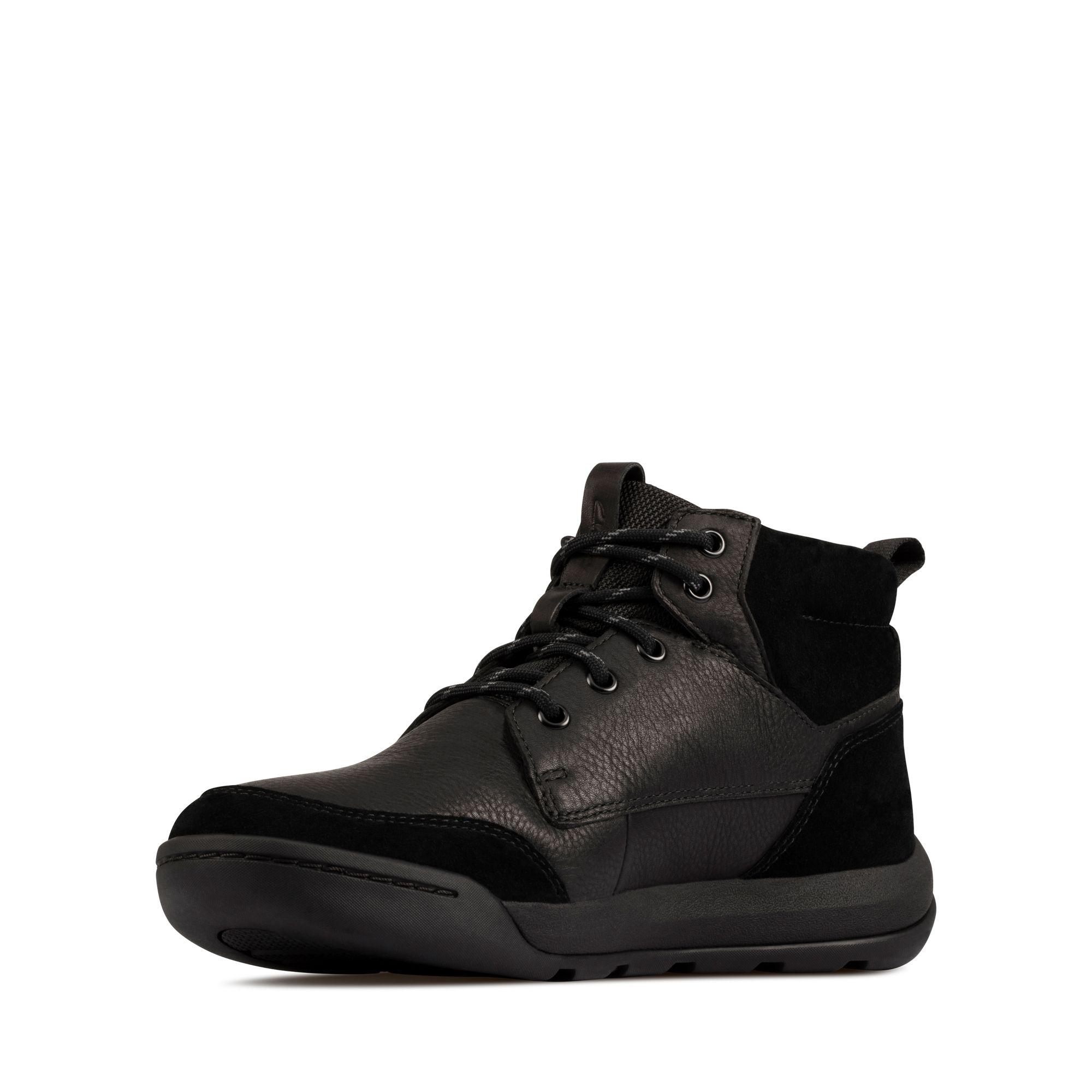 Мъжки обувки Clarks Ashcombe HiGTX Black WLined Lea - снимка 4