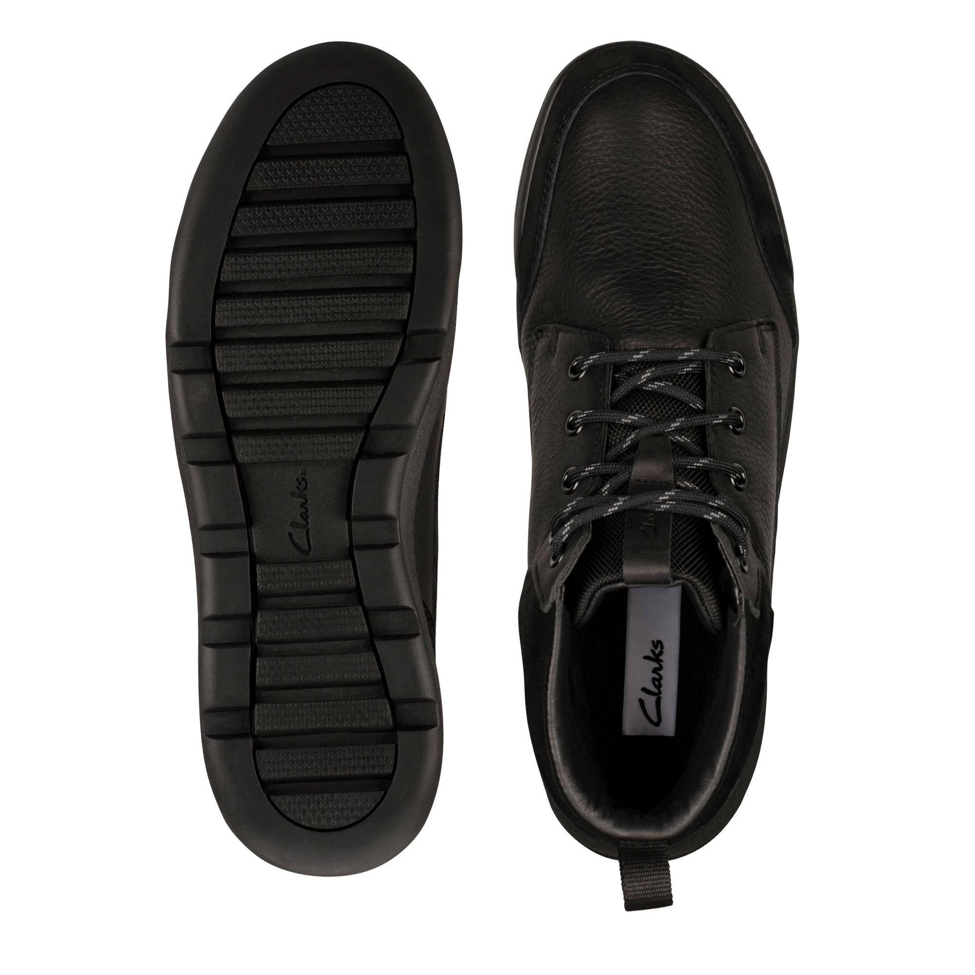 Мъжки обувки Clarks Ashcombe HiGTX Black WLined Lea - снимка 7