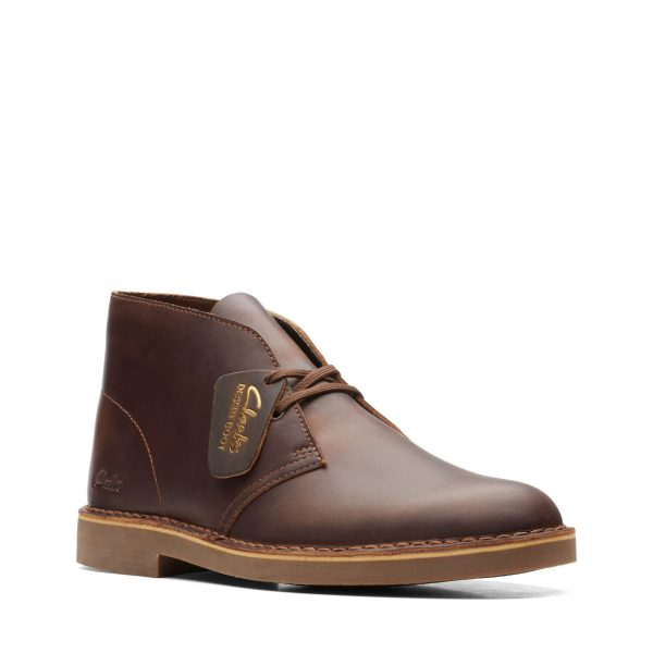 Класически унисекс обувки Clarks Desert Boot 2 Beeswax Leather - снимка 1