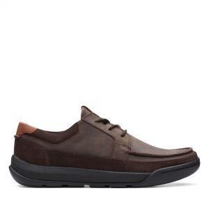 Мъжки обувки Clarks Ashcombe Craft Dark Brown Lea кафяви - снимка 2
