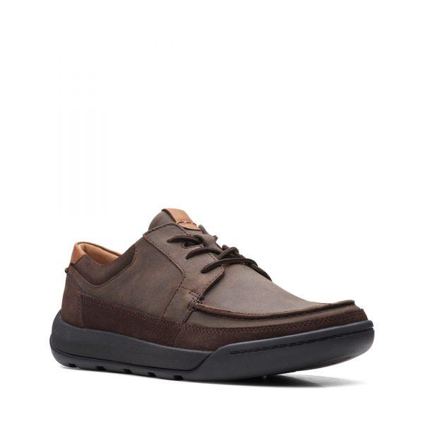 Мъжки обувки Clarks Ashcombe Craft Dark Brown Lea кафяви - снимка 1