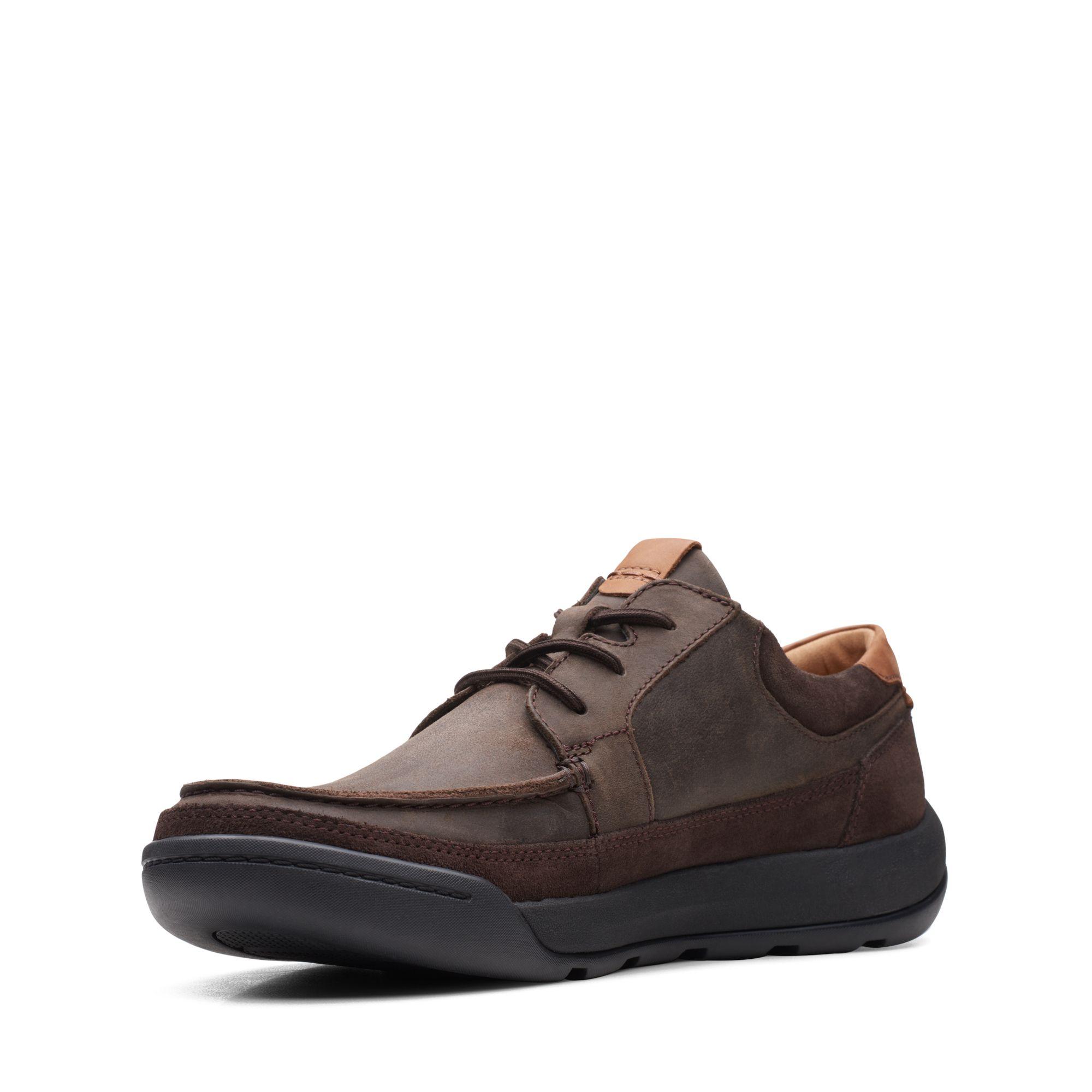 Мъжки обувки Clarks Ashcombe Craft Dark Brown Lea кафяви - снимка 4