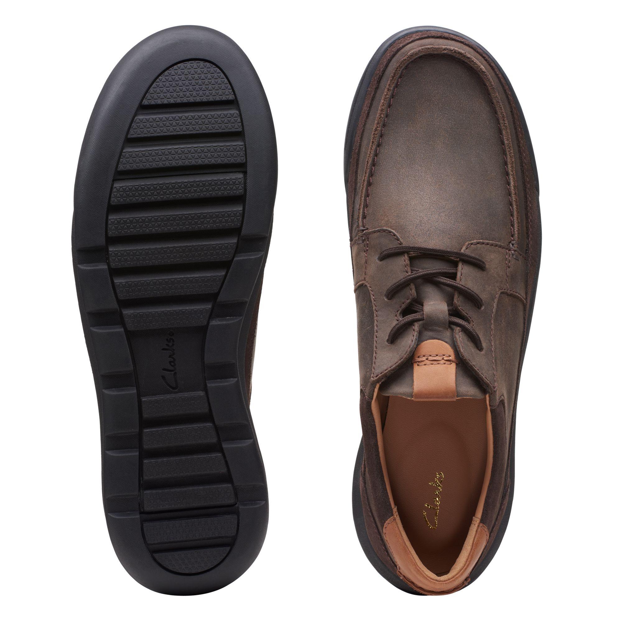 Мъжки обувки Clarks Ashcombe Craft Dark Brown Lea кафяви - снимка 7
