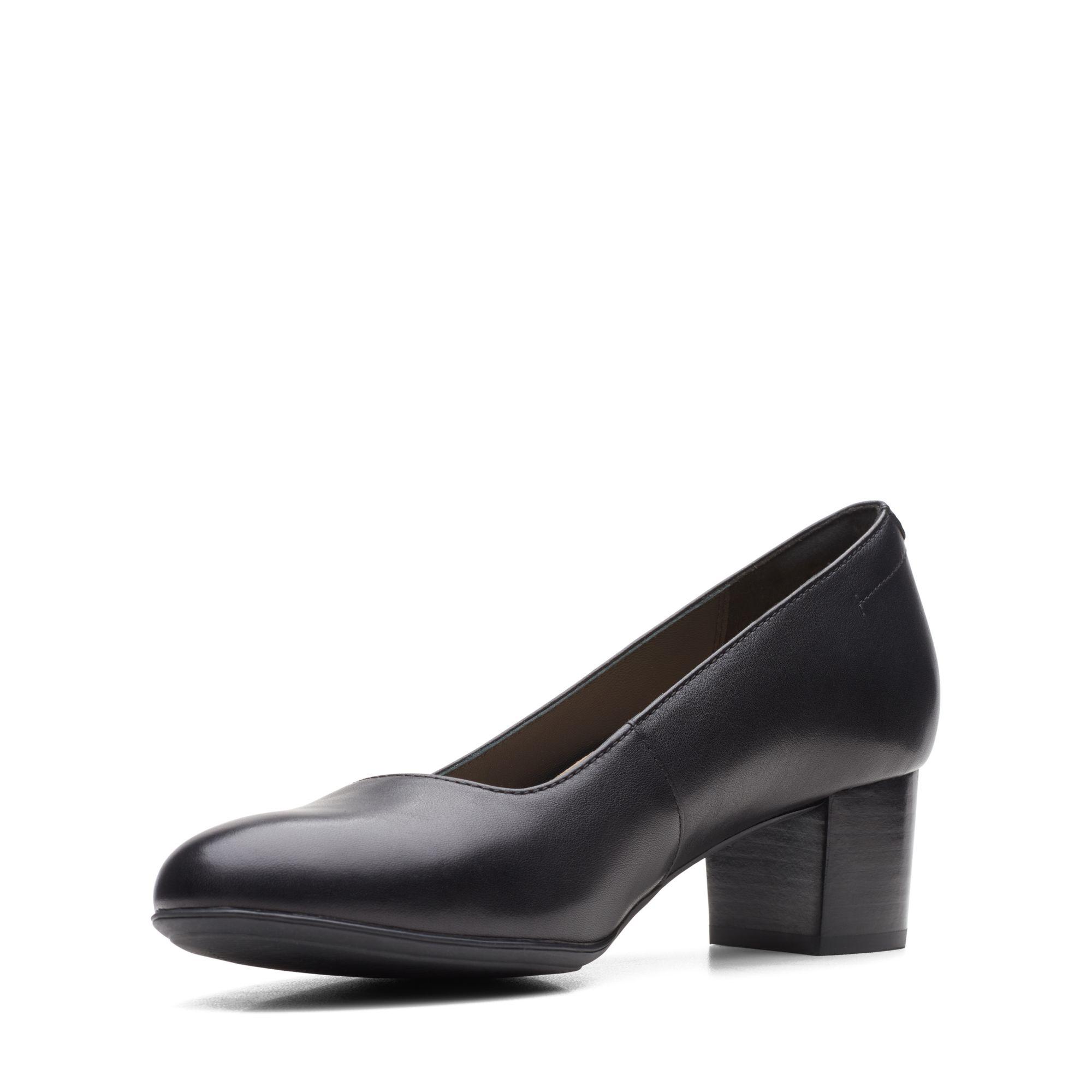 Дамски обувки на ток Clarks Linnae Pump Black Leather - снимка 4