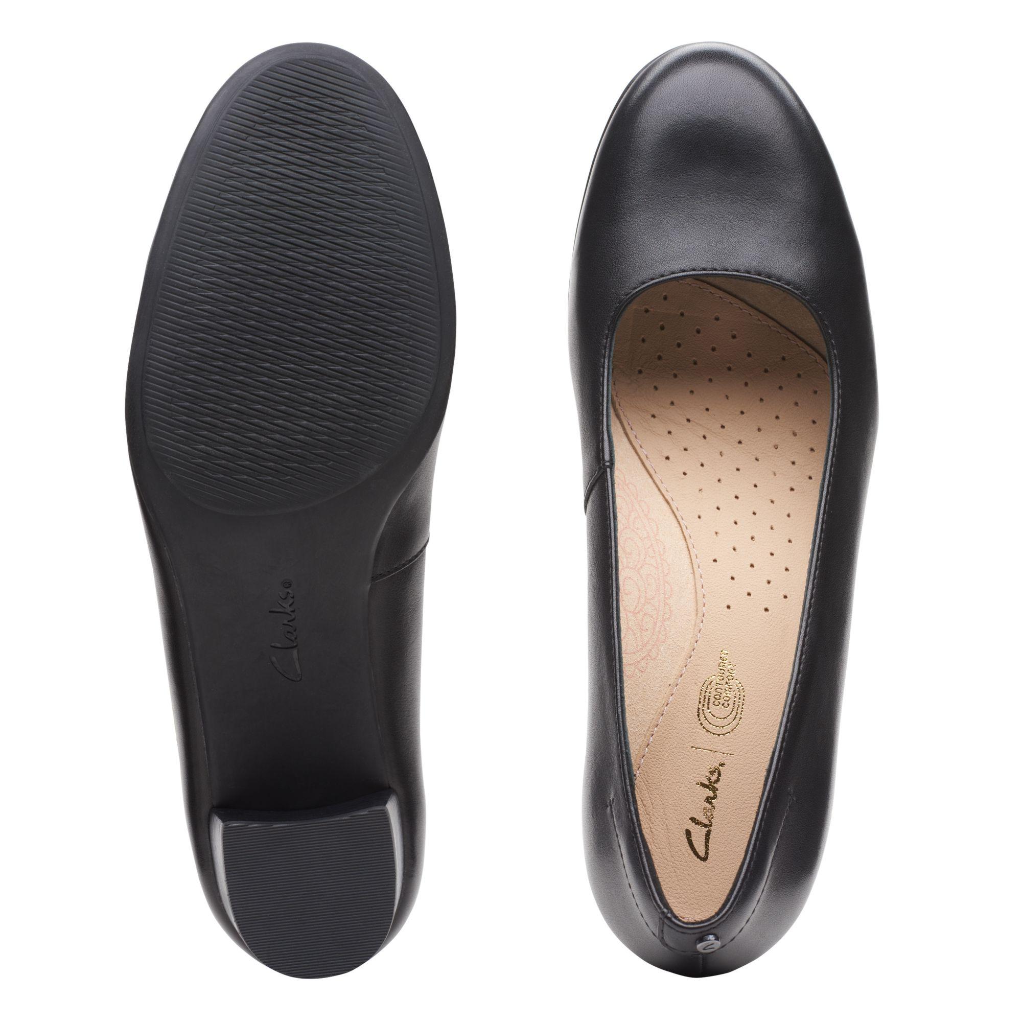 Дамски обувки на ток Clarks Linnae Pump Black Leather - снимка 7