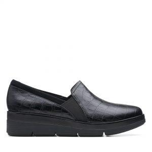 Дамски обувки Clarks Shaylin Ave Black Croc - снимка 2