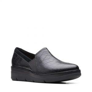Дамски обувки Clarks Shaylin Ave Black Croc - снимка 1