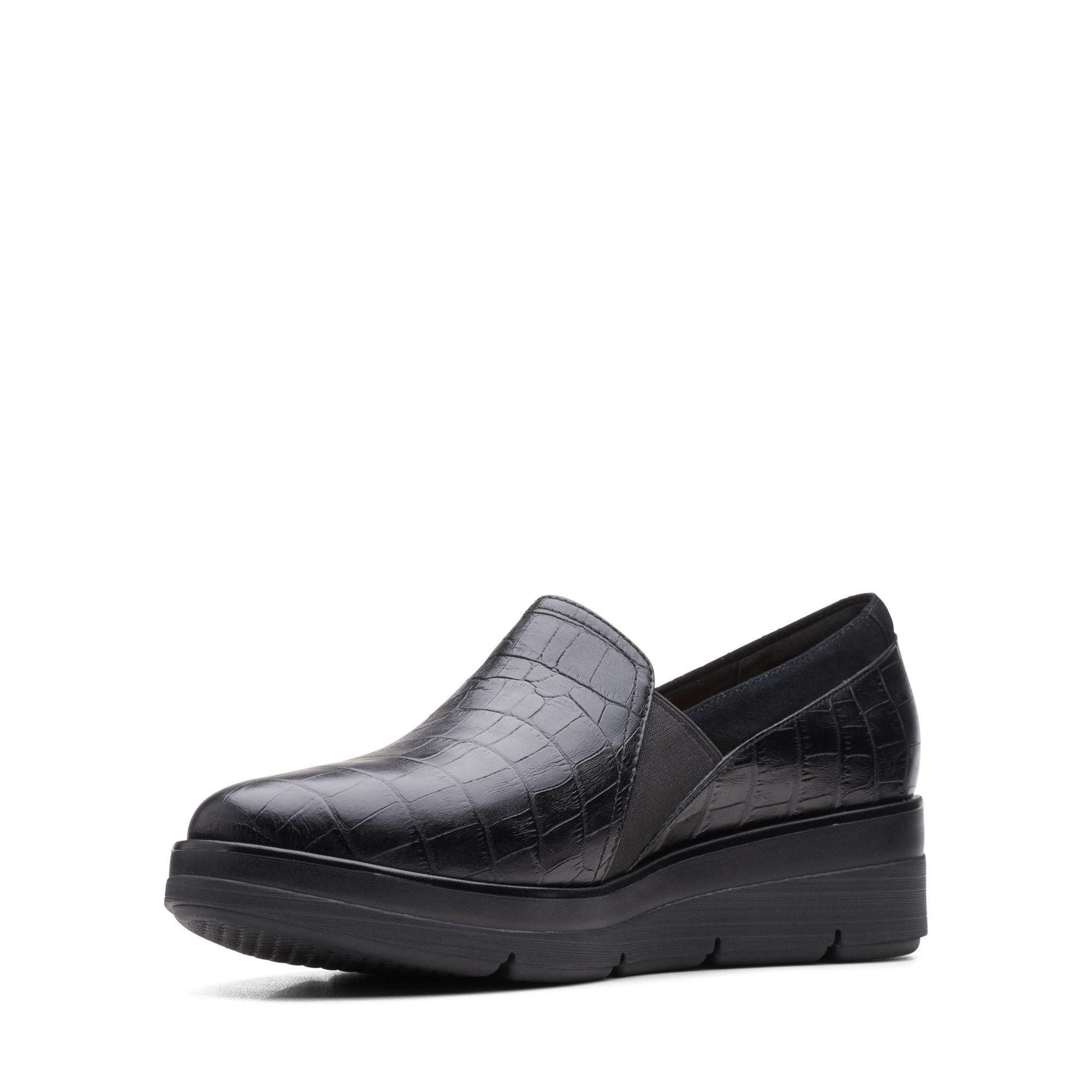 Дамски обувки Clarks Shaylin Ave Black Croc - снимка 4