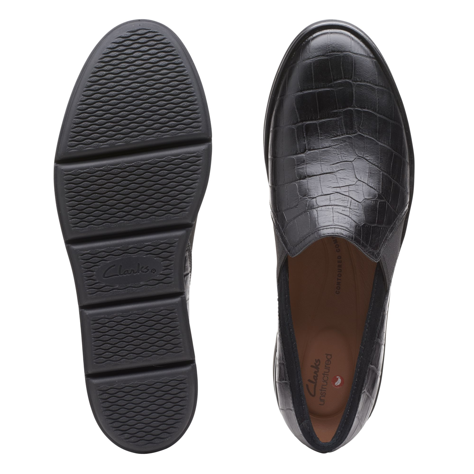 Дамски обувки Clarks Shaylin Ave Black Croc - снимка 7