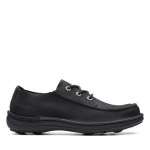 Мъжки обувки от набук Clarks Nature Ramble Black Nubuck - снимка 2