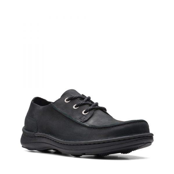 Мъжки обувки от набук Clarks Nature Ramble Black Nubuck - снимка 1
