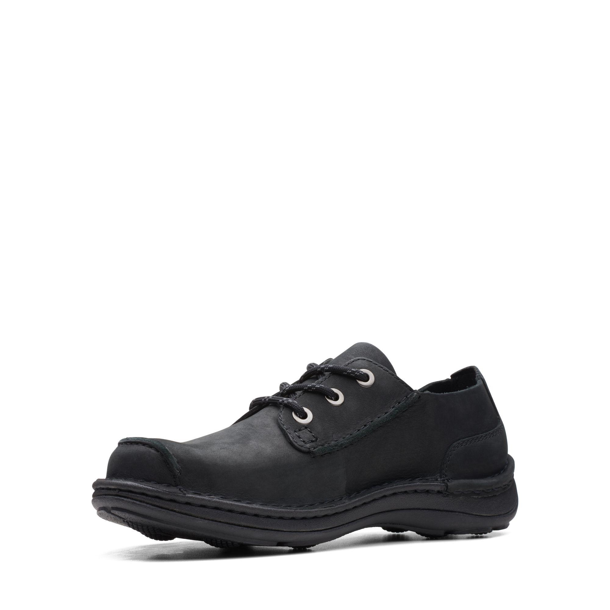 Мъжки обувки от набук Clarks Nature Ramble Black Nubuck - снимка 4
