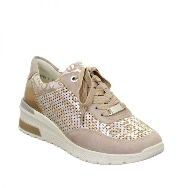 Дамски спортни розови обувки с принт Ара / ara 12-18402-10