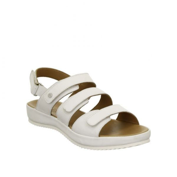 Дамски кожени сандали с велкро ara DUBAI 12-15175-06 - бели