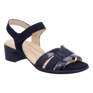 Дамски сандали от ест. кожа за широк крак ara 12-35782-02 тъмно сини - снимка 1
