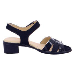 Дамски сандали от ест. кожа за широк крак ara 12-35782-02 тъмно сини - снимка 2