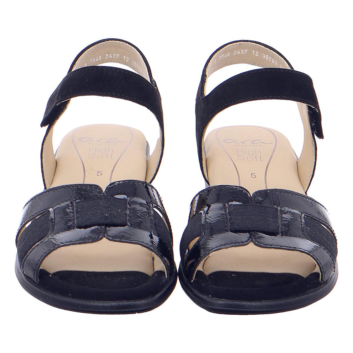 Дамски сандали от ест. кожа за широк крак ara 12-35782-02 тъмно сини - снимка 5
