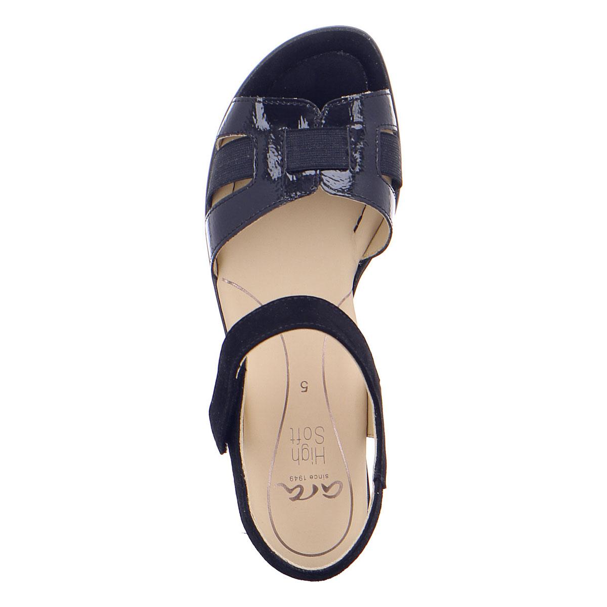 Дамски сандали от ест. кожа за широк крак ara 12-35782-02 тъмно сини - снимка 6