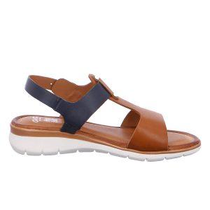 Дамски сандали от ест. кожа ara 12-23610-05 тъмно синьо с кафяво - снимка 2