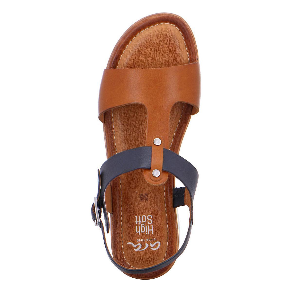 Дамски сандали от ест. кожа ara 12-23610-05 тъмно синьо с кафяво - снимка 5