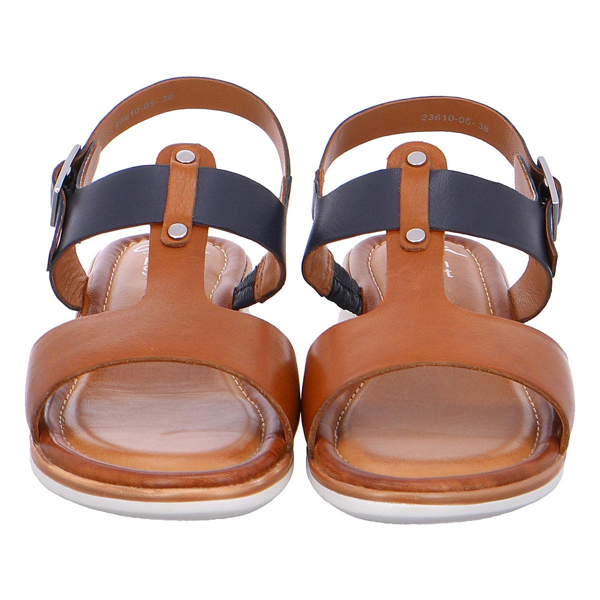 Дамски сандали от ест. кожа ara 12-23610-05 тъмно синьо с кафяво - снимка 6