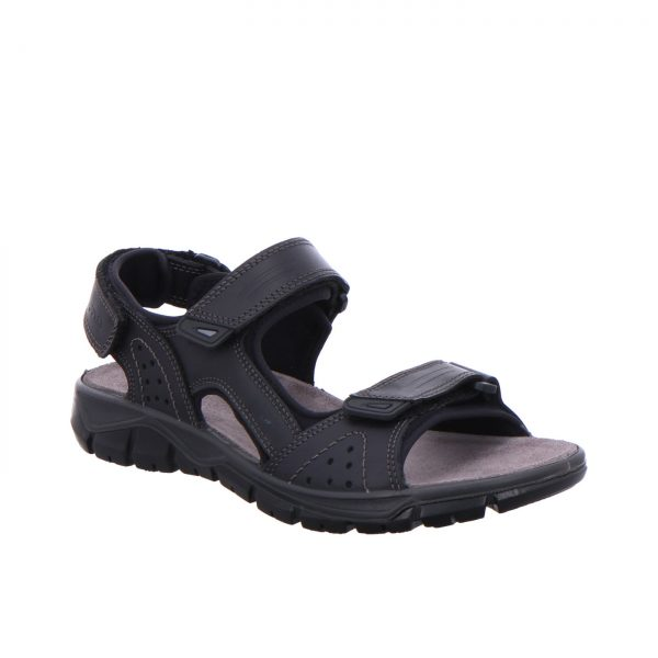 Мъжки спортни кожени сандали ara 11-38026-01 черни - снимка 1