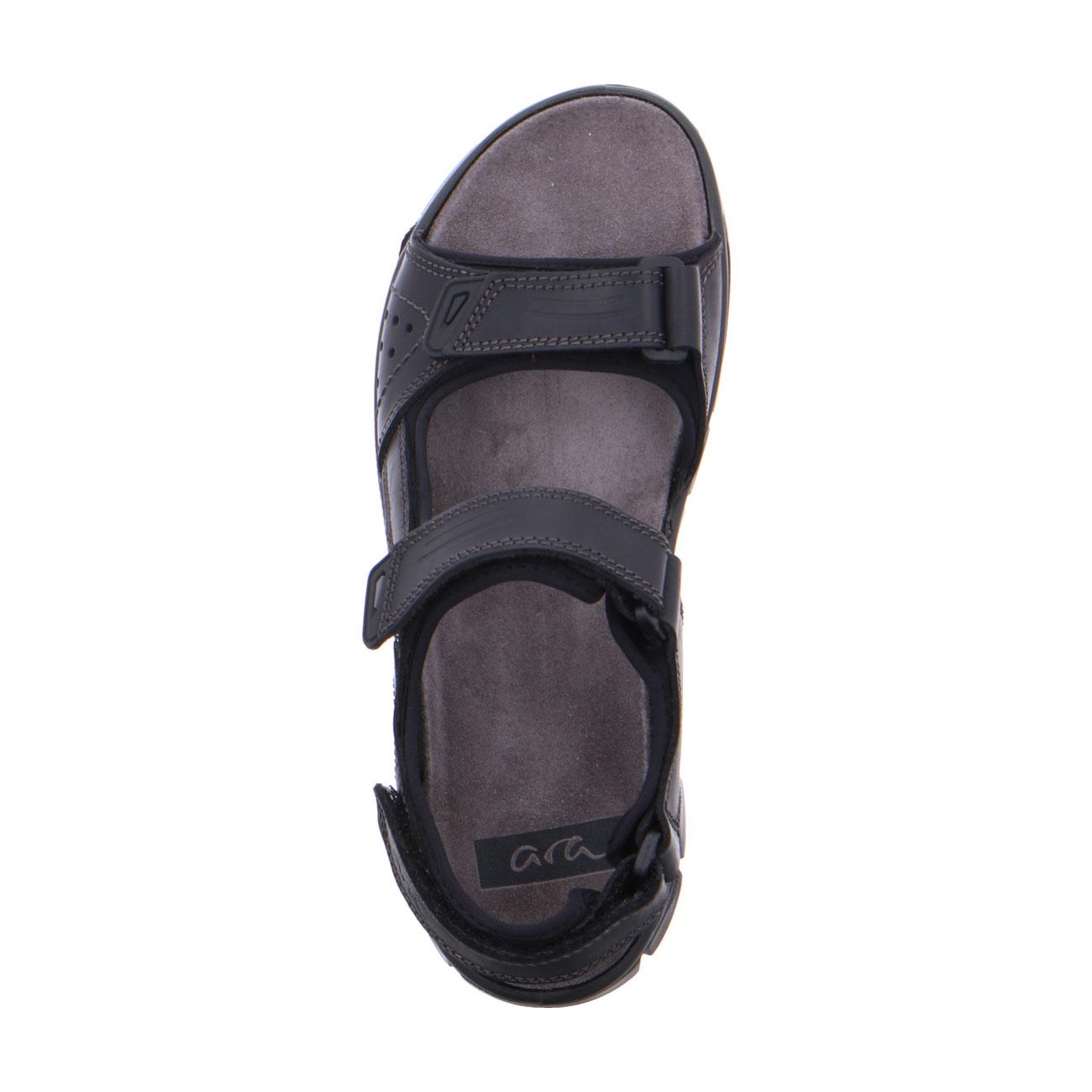 Мъжки спортни кожени сандали ara 11-38026-01 черни - снимка 5