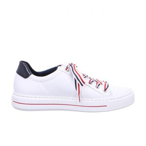Дамски спортни перфорирани обувки ara 12-37499-05 - бели с шарени връзки - снимка 2