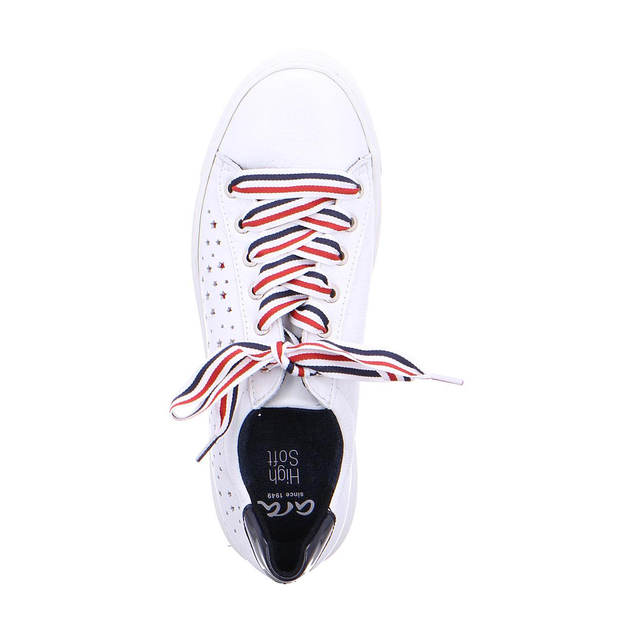 Дамски спортни перфорирани обувки ara 12-37499-05 - бели с шарени връзки - снимка 5