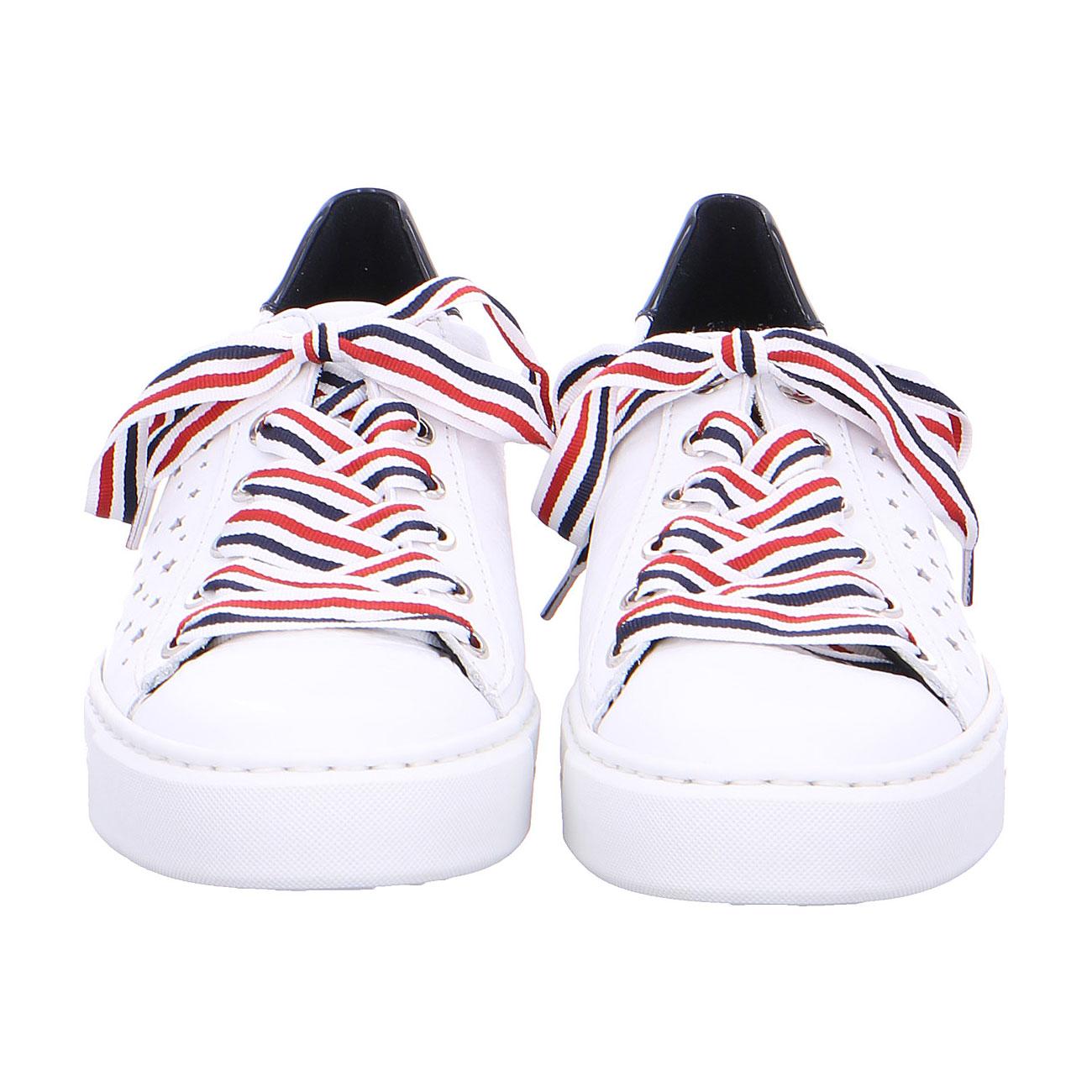 Дамски спортни перфорирани обувки ara 12-37499-05 - бели с шарени връзки - снимка 6