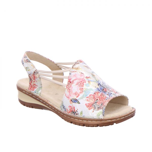 Дамски сандали с ластици Ara Hawaii multi 12-27241-73 шарени - снимка 1
