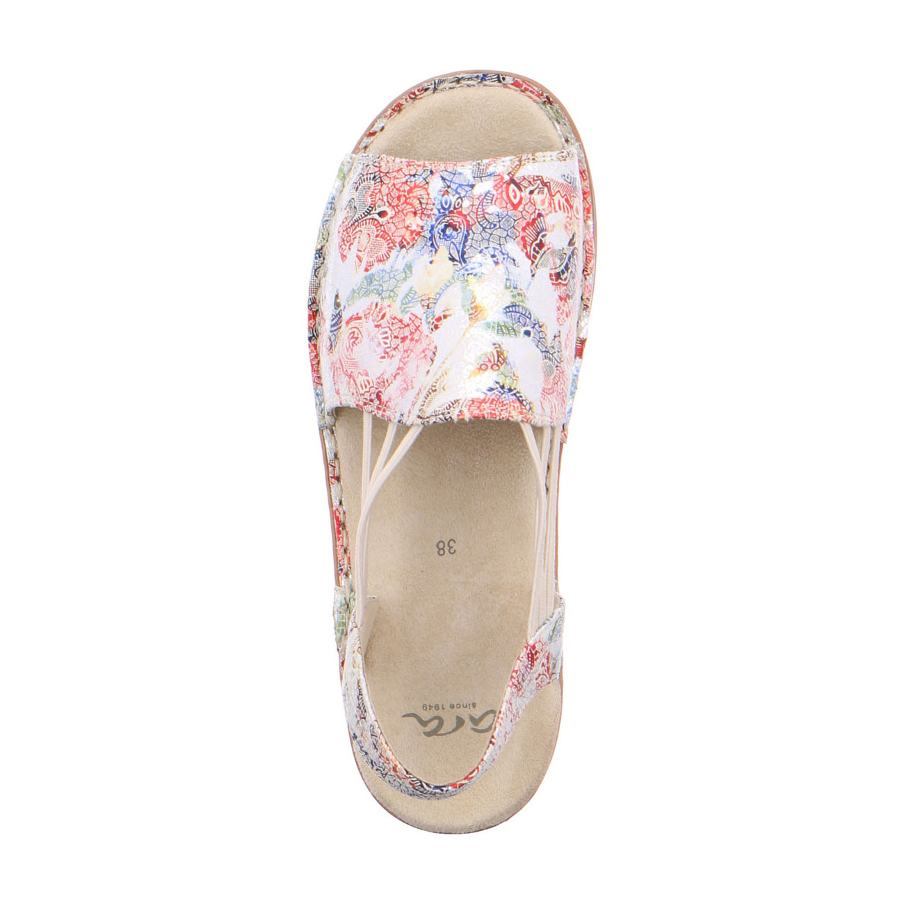 Дамски сандали с ластици Ara Hawaii multi 12-27241-73 шарени - снимка 5