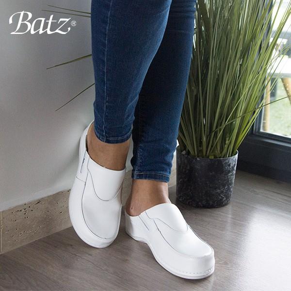 Дамски чехли Batz FC10 1036 бели от ест. кожа - снимка 5