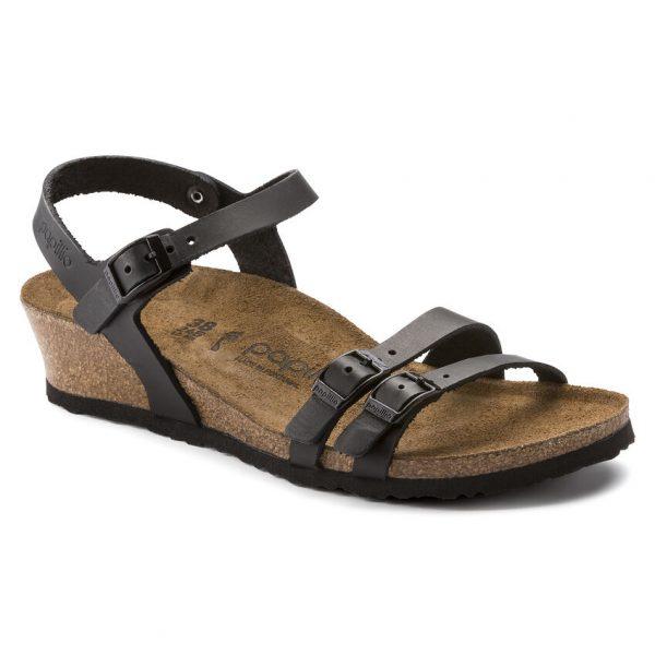 Дамски сандали от ест. кожа Birkenstock Lana черни - снимка 1