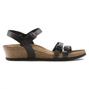 Дамски сандали от ест. кожа Birkenstock Lana черни - снимка 2