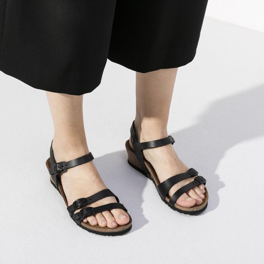 Дамски сандали от ест. кожа Birkenstock Lana черни - снимка 7
