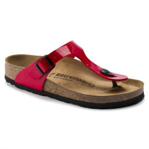 Дамски чехли от биркофлор Birkenstock Gizeh червена череша - снимка 1