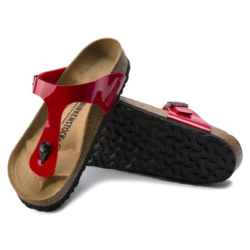 Дамски чехли от биркофлор Birkenstock Gizeh червена череша - снимка 8