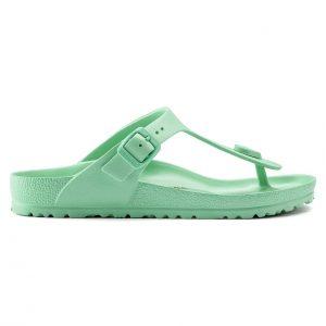 Дамски джапанки Birkenstock Gizeh EVA Beach Bold Jade светло зелени - снимка 2