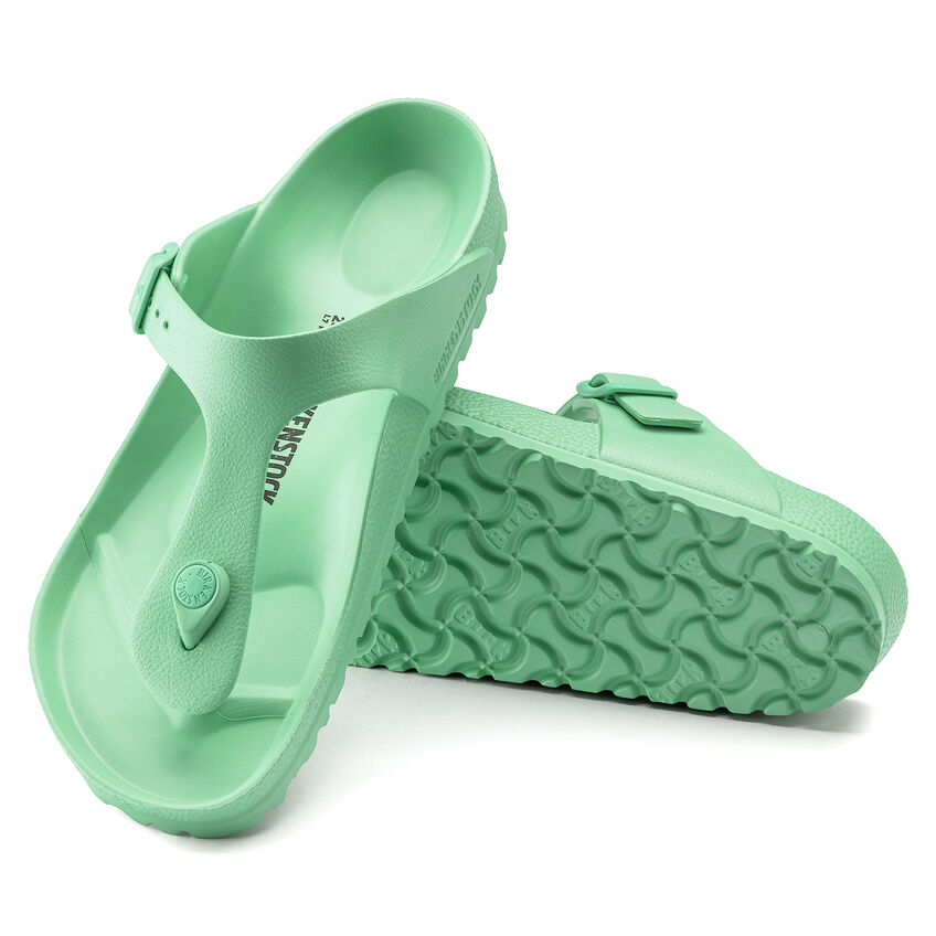 Дамски джапанки Birkenstock Gizeh EVA Beach Bold Jade светло зелени - снимка 6